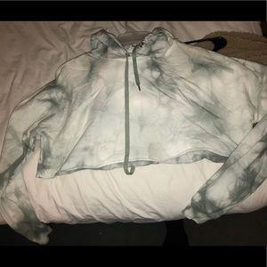 american eagle crop hoodie